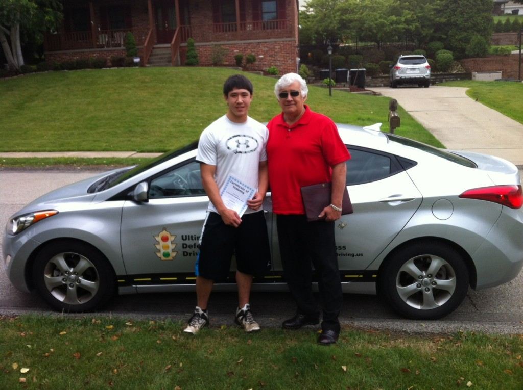 Pittsburgh Driving Instructor, Jerry Lombard with student.